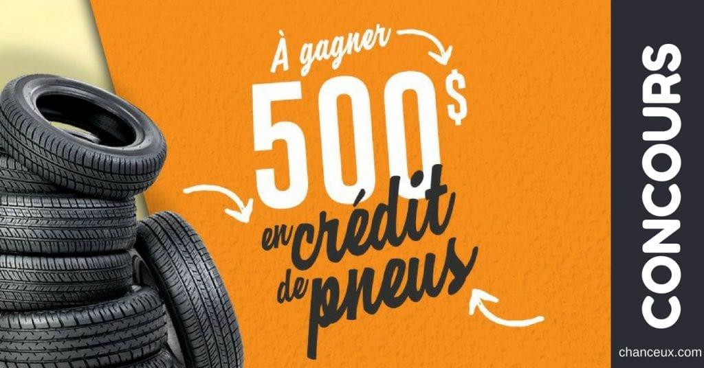Gagnez 500$ de crédit pneus!