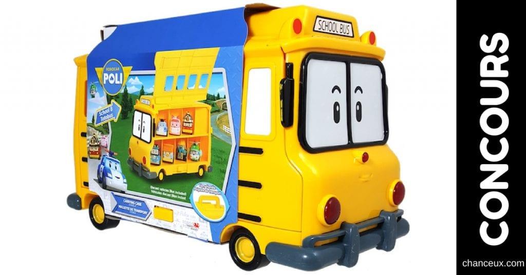 Gagnez cette petite autobus Robocar Poli pour enfants!
