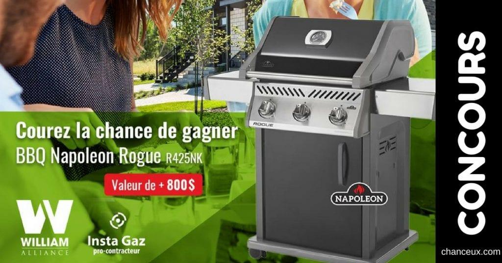 Gagnez un BBQ Napoleon Rogue R425NK d'une valeur de plus de 800$!