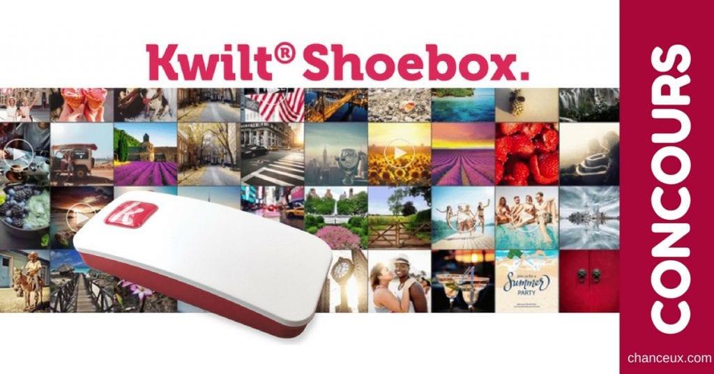 Gagnez un Kwilt Shoebox pour accéder à vos photos partout en tout temps!