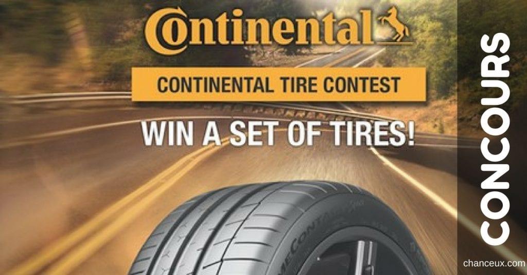 Gagnez un ensemble de pneus Continental!