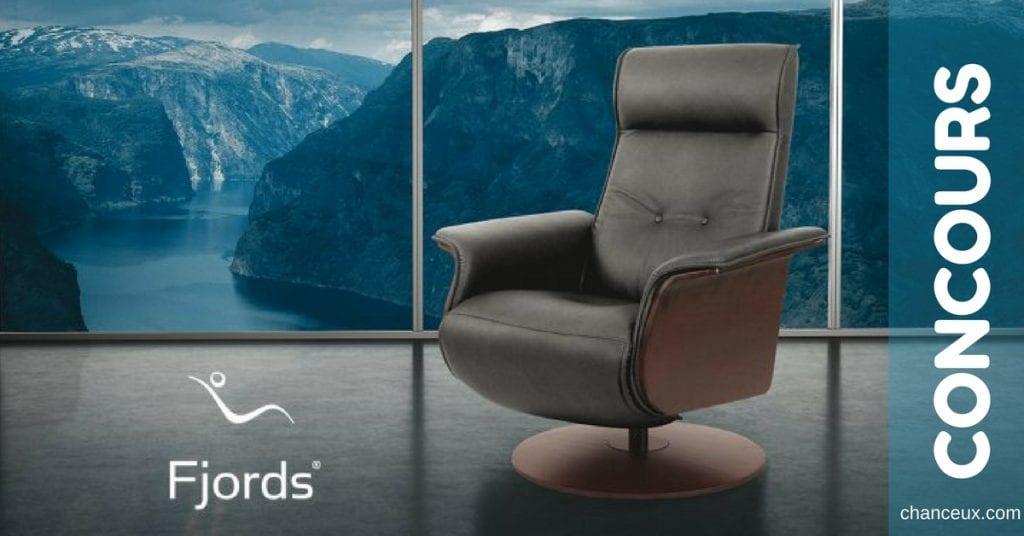 Gagnez un fauteuil en cuir FJORDS d'une valeur de 3699$!