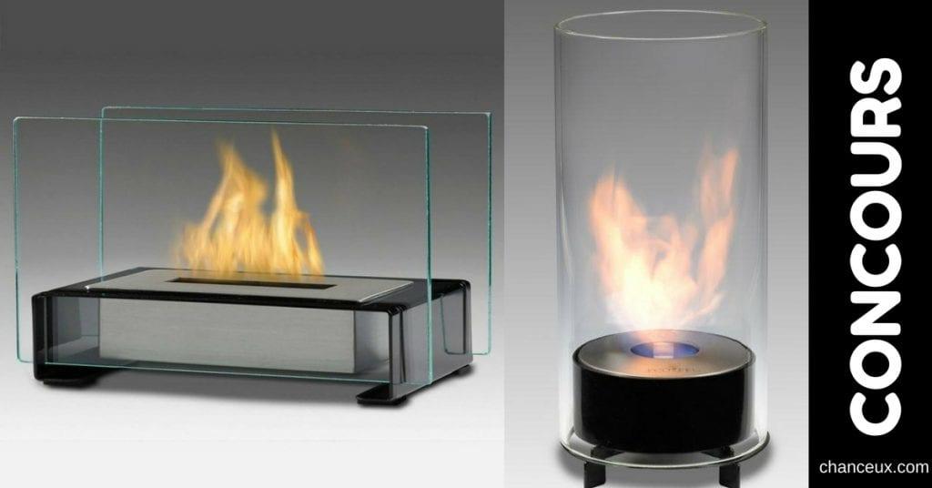 Gagnez un foyer décoratif à l'éthanol ''Éco-feu'' d'une valeur de 89,99$!