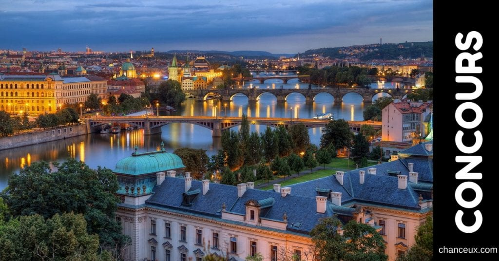 Gagnez un voyage d'une semaine pour 2 personnes à Prague!