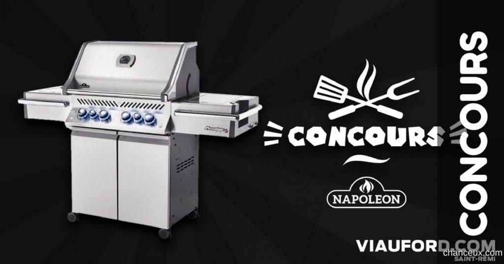 Gagnez ce magnifique BBQ Napoléon prestige d'une valeur de 2 200$!