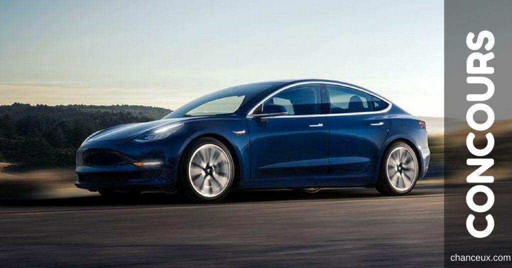 Gagnez la location d'une Tesla modèle 3 pour 1 an!