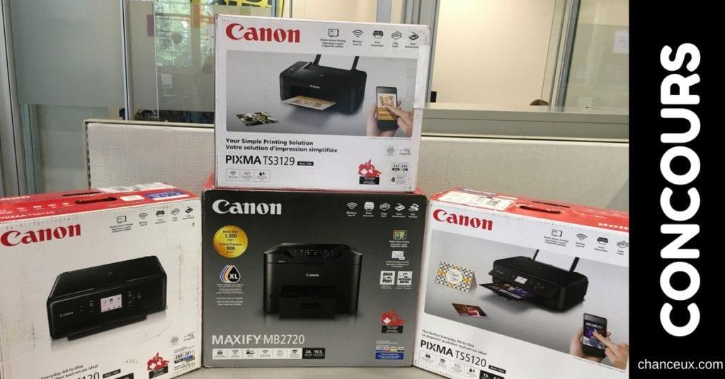 Gagnez l'une des 5 super imprimantes de Canon!