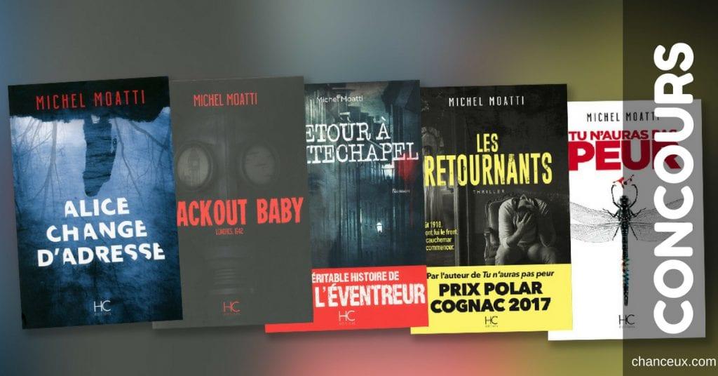 Gagnez un ensemble de 5 livres de l'auteur Michel Moatti!