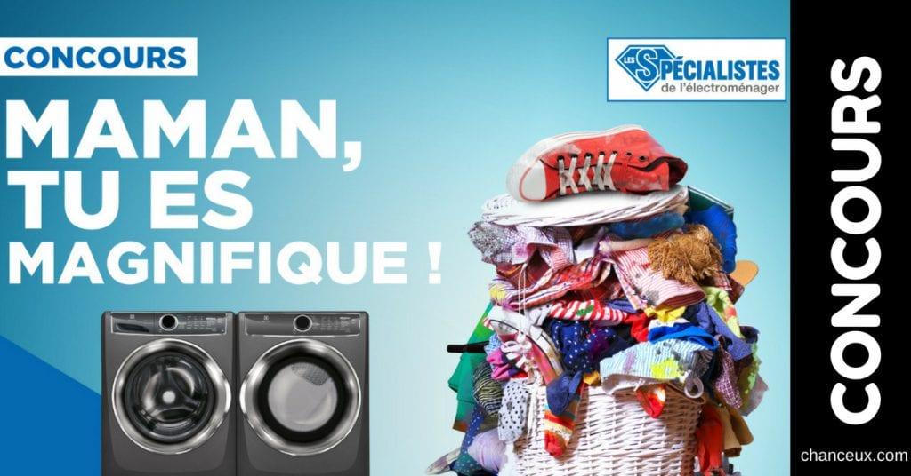 Gagnez un ensemble laveuse-sécheuse Électrolux, d'une valeur de 2400$!
