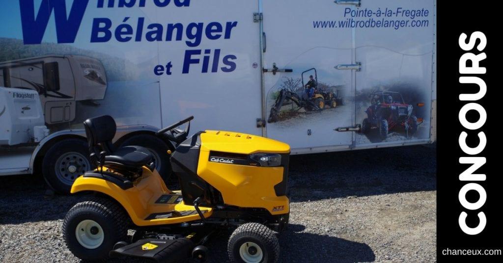 Gagnez un tracteur Cubcadet XT1 offert par Wilbrod Bélanger & fils Inc!