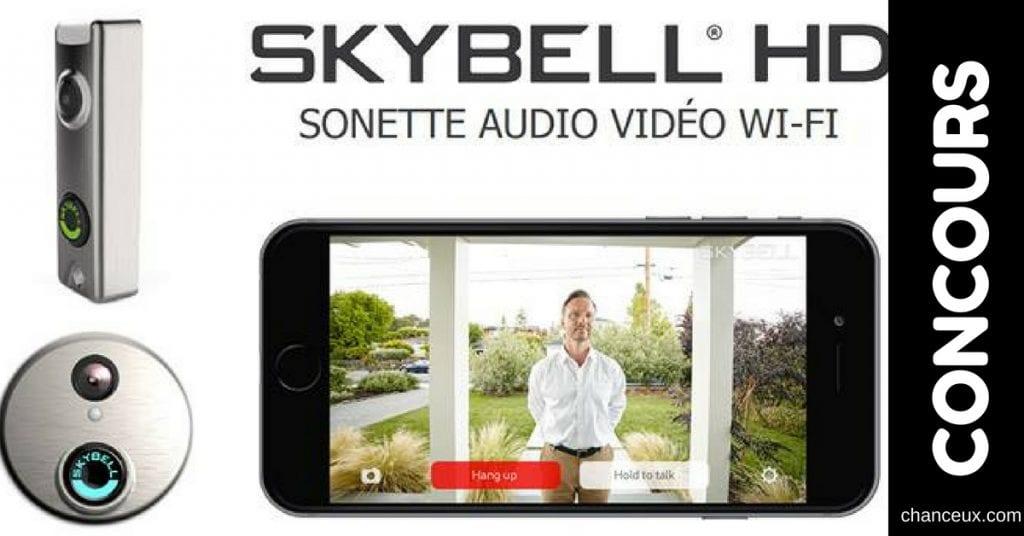 Gagnez une superbe sonnette audio vidéo Skybell Trim!