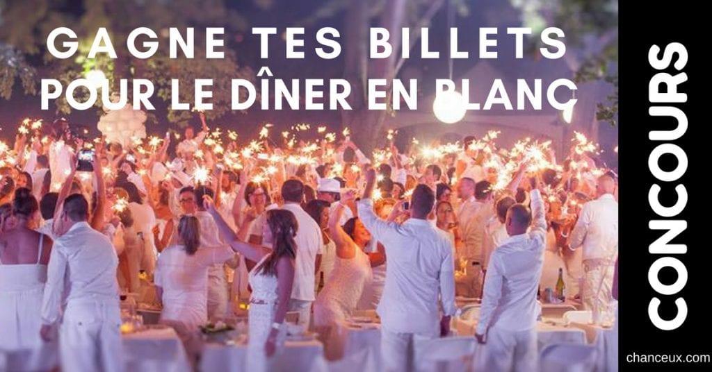 Concours – Gagne ta paire de billet pour le dîner en Blanc de Victoriaville ou Trois-rivières