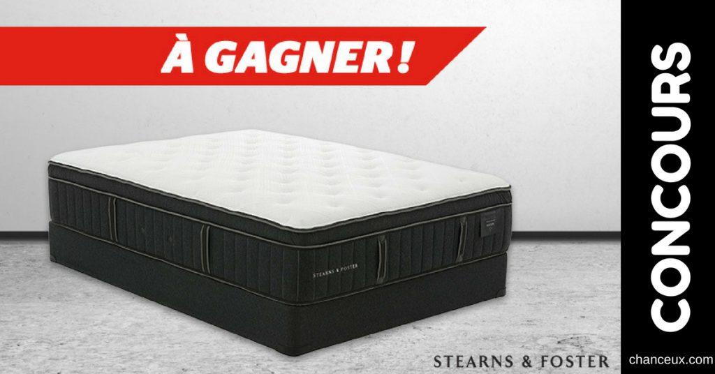 concours gagnez un nouveau matelas et sommier grand lit. Black Bedroom Furniture Sets. Home Design Ideas