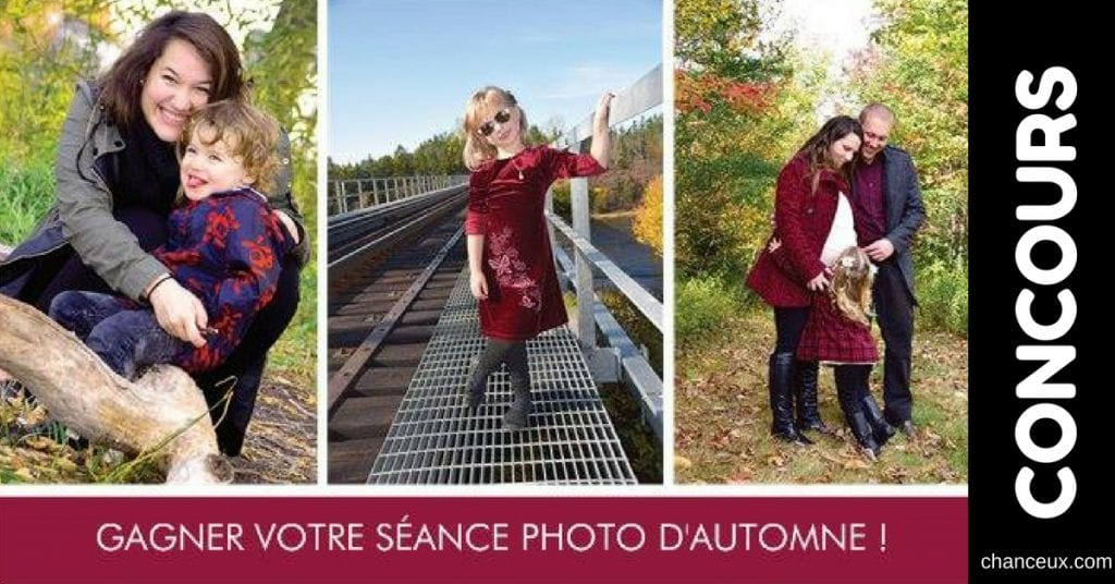 Concours - Gagnez votre séance photo d'automne!