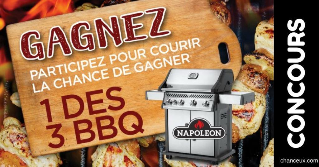 Concours - Gagnez l'un des 3 BBQ Napoléon!
