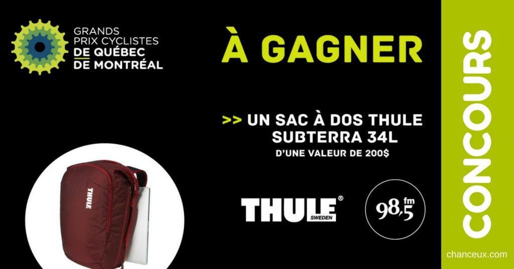 Concours - Gagnez un sac THULE Subterra d'une valeur de 200$!