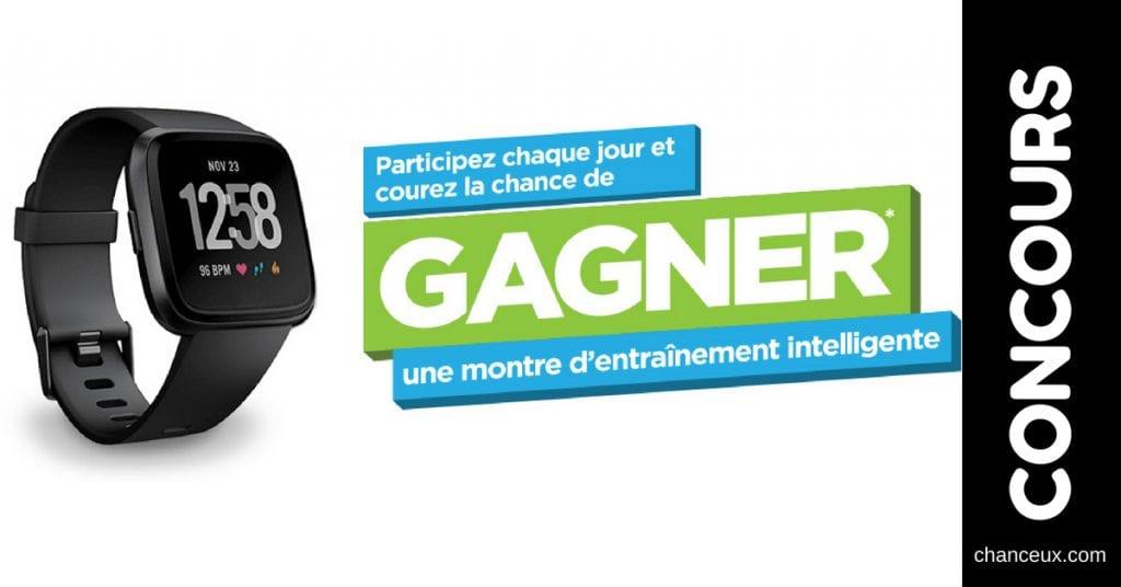 Concours - Gagnez une montre d'entraînement intelligente!