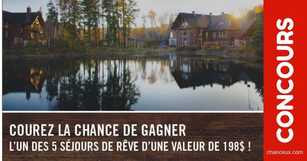 Concours à gagner cinq escapades en couple à l'Auberge du Lac Taureau