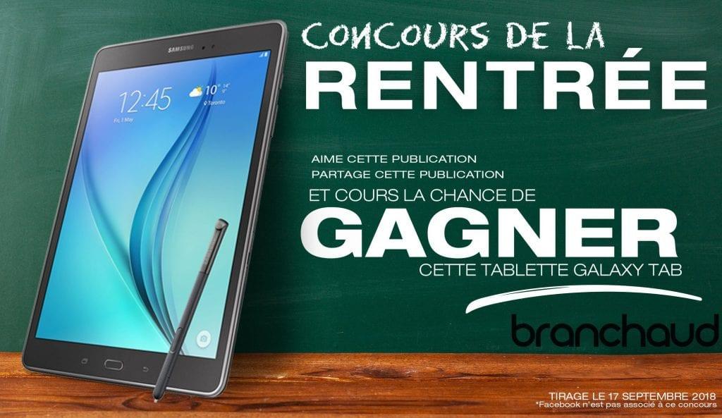 Concours - Gagne une tablette Samsung pour la rentrée