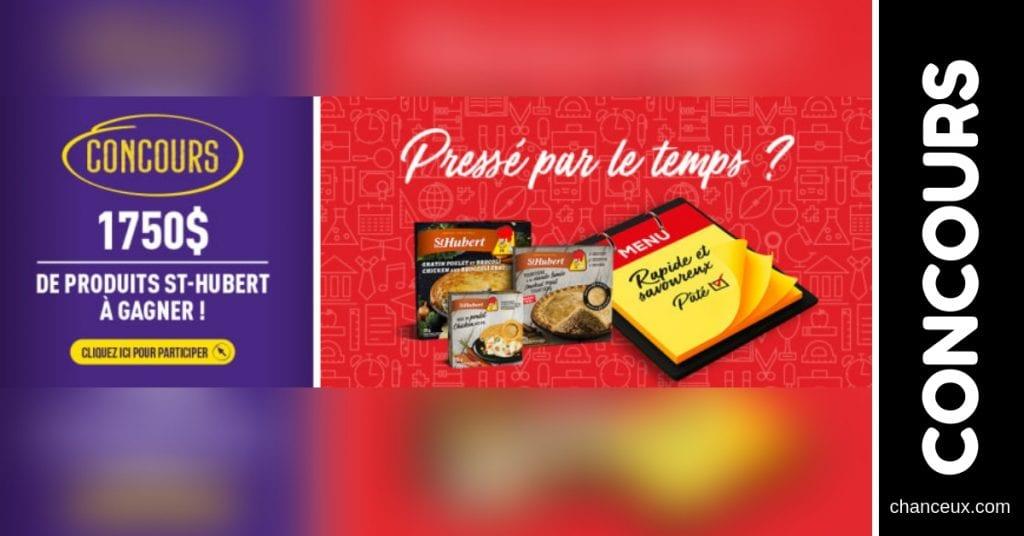 Concours - Gagner 250$ en coupons de produits St-Hubert!
