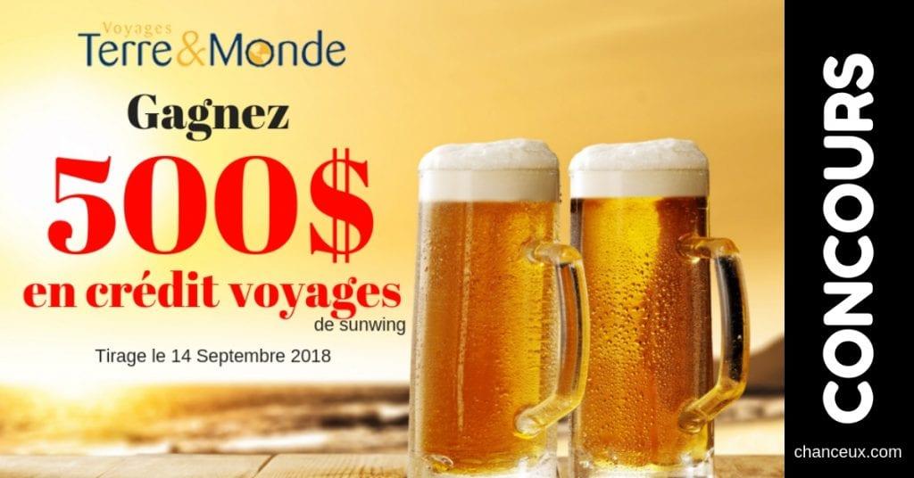 Concours - Gagnez 500$ en crédit-voyage!