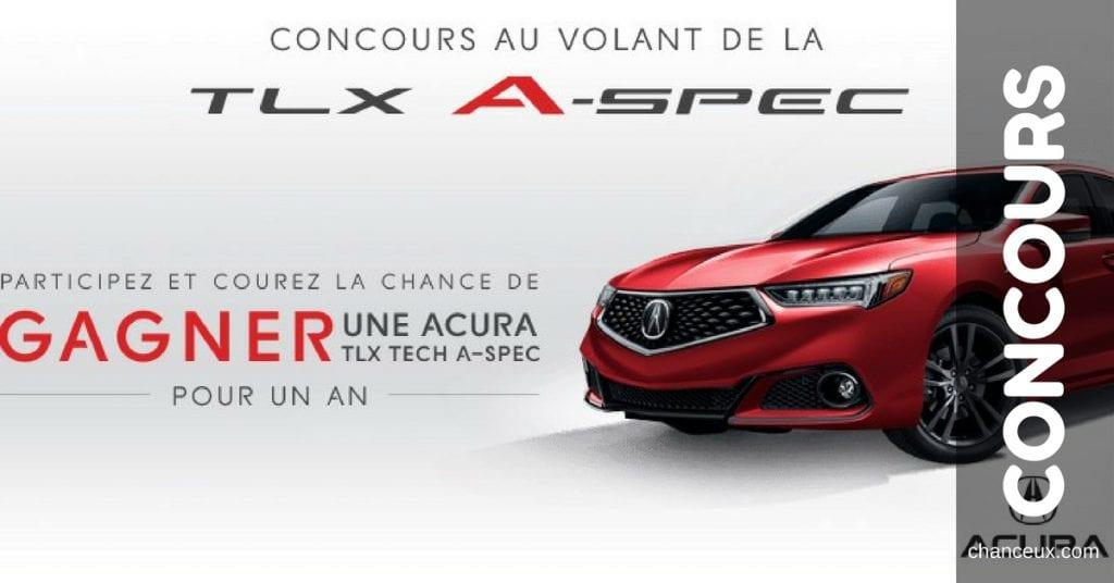 Concours - Gagnez une Acura TLX en location durant un an!