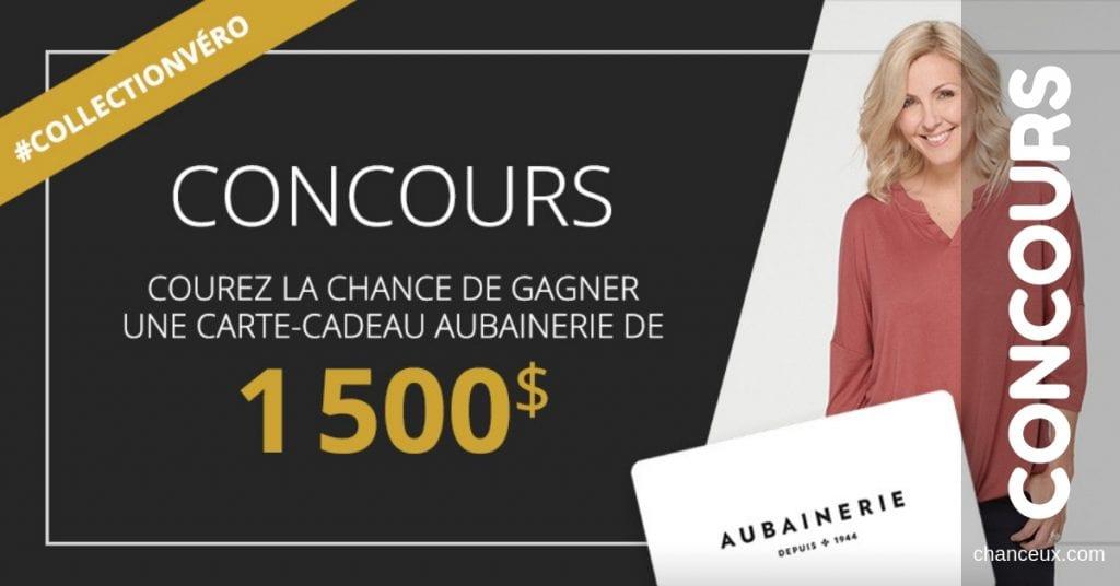 Concours - Gagnez une carte-cadeau de 1500$ à l'Aubainerie!