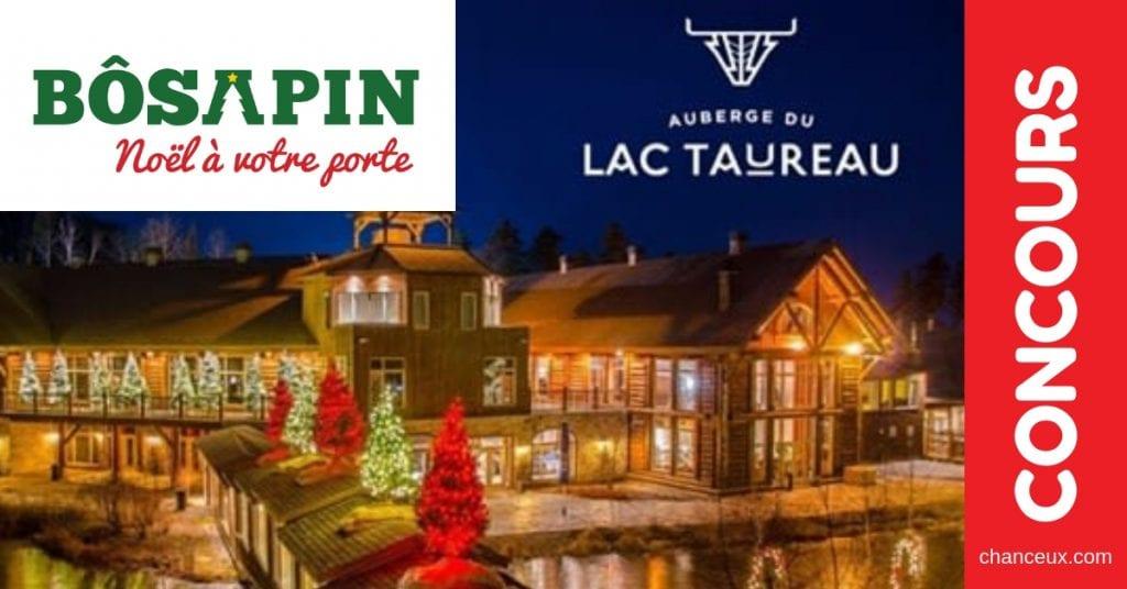 Concours du Québec - Certificat-cadeau de 1 000$ à l'Auberge du Lac Taureau