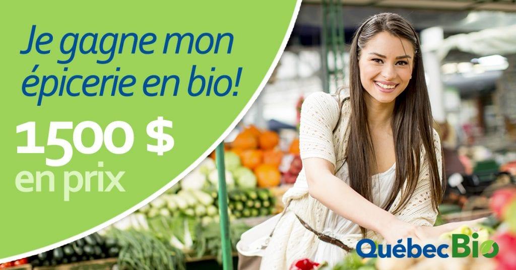 Concours Québec - Gagne 1 500$ d'épicerie en bio