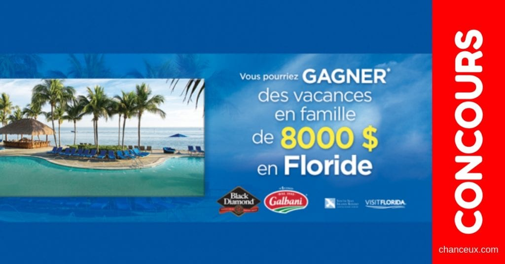 Concours Québec - Gagne des vacance en famille en Floride