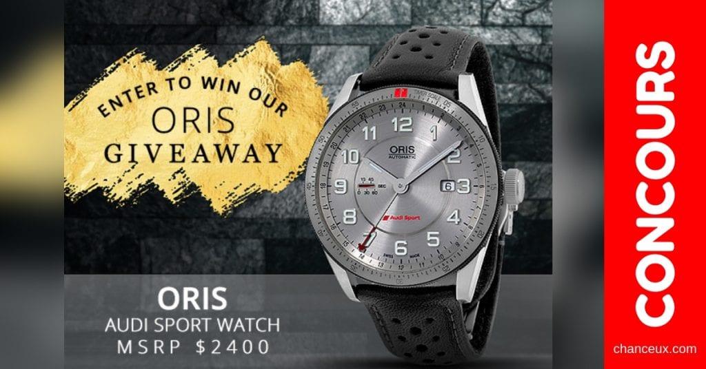 Concours Québec - Montre Oris Audi Sport Watch d'une valeur de 2 400 $