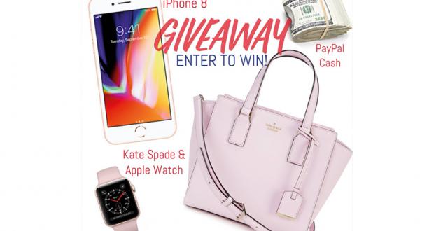Gagnez un IPhone 8, sac Kate Spade, montre Apple