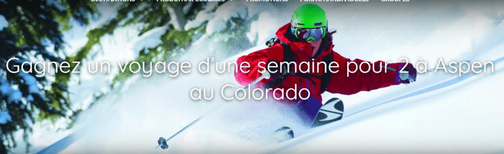 Gagnez un voyage à Aspen Colorado