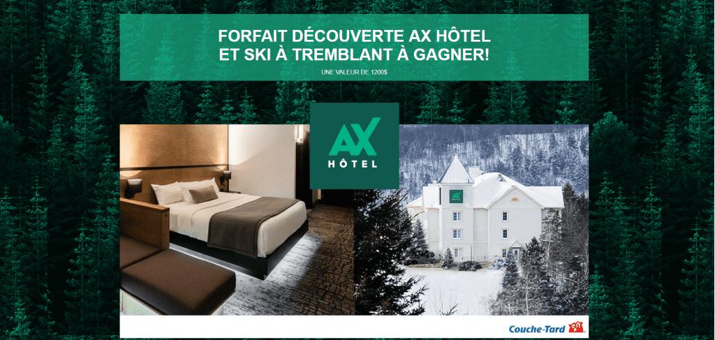 Concours Québec - Forfait Découverte AX Hôtel et Ski à Tremblant