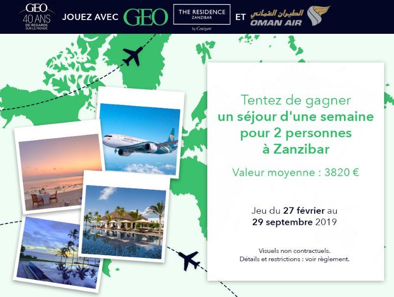 1 voyage pour 2 personnes sur l'île de Zanzibar