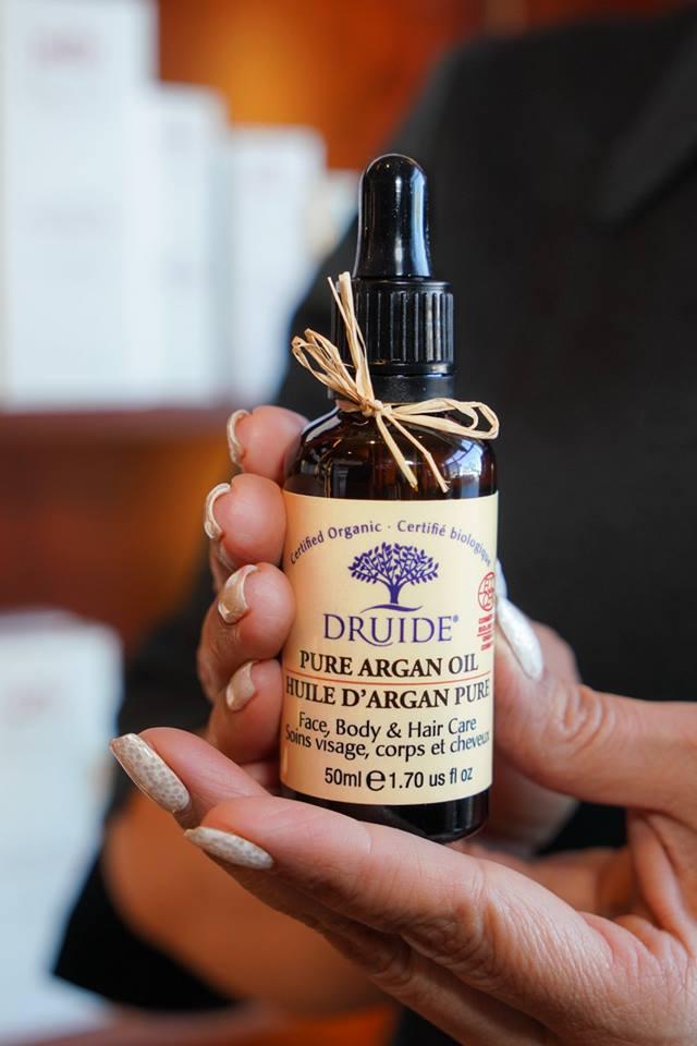 Une bouteille d'huile d'argan pure offert par Druide
