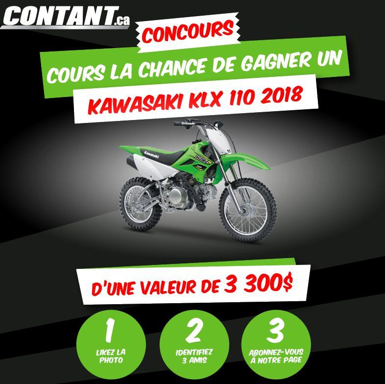 Concours Québec - Gagnez une moto Kawasaki KLX 110