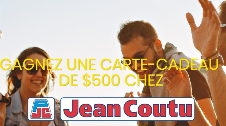 Une carte cadeau Jean Coutu de 500$