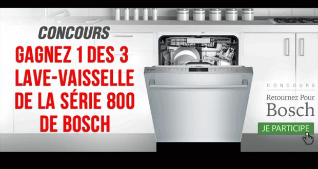 1 des 3 lave-vaisselle de la Série 800 de Bosch