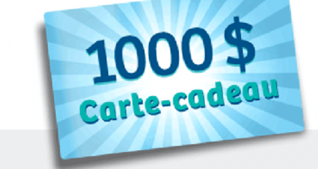 Gagnez 1000$ en cartes-cadeaux