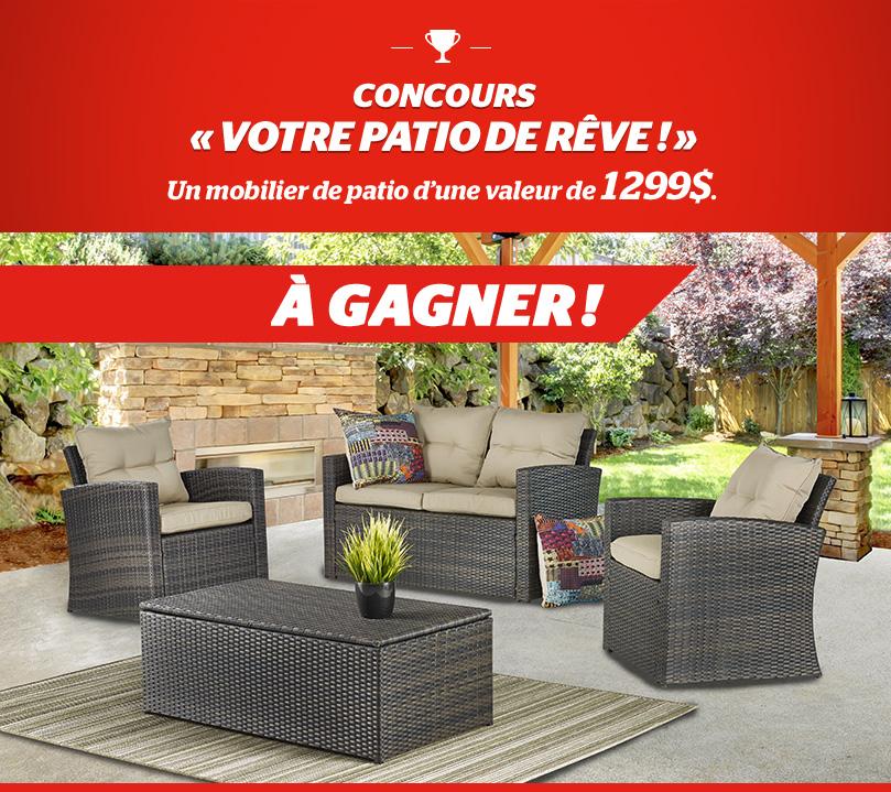 Concours Québec - Gagnez un Mobilier de jardin 4 morceaux