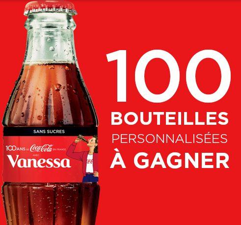 100 bouteilles personnalisées collector de Coca-Cola