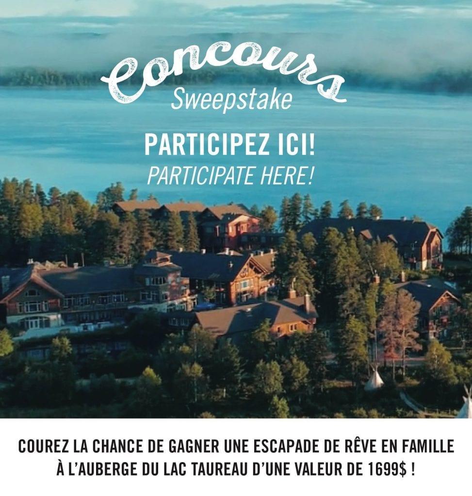 Concours Québec - Séjour en famille à L'Auberge du Lac Taureau