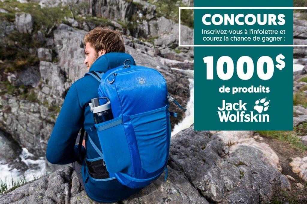 Concours Québec - 1000$ de produits Jack Wolfskin au choix