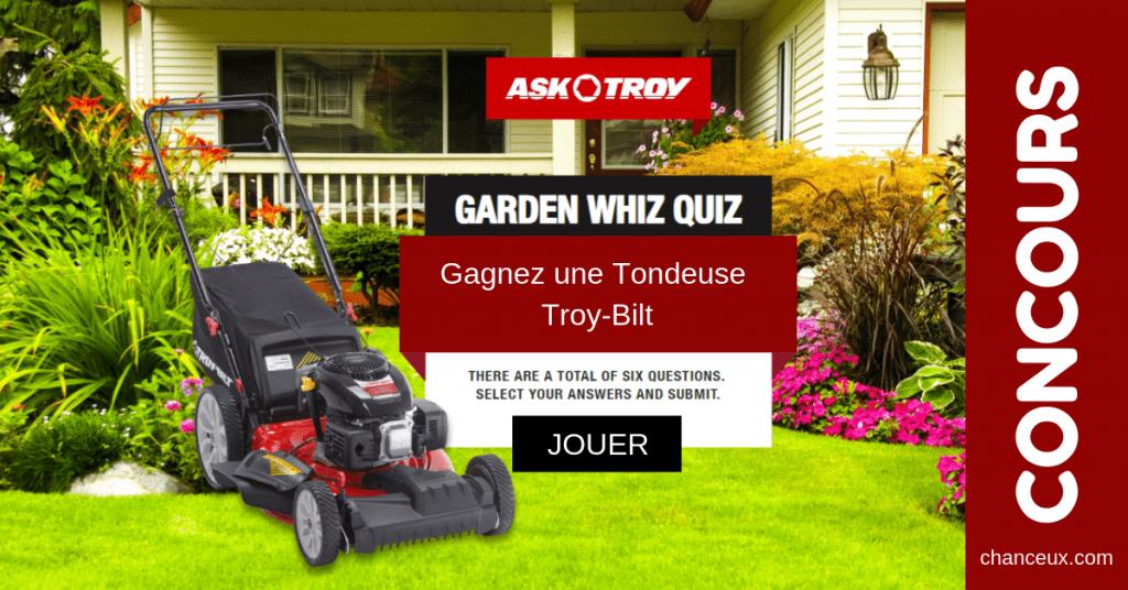 Concours Québec - Gagnez une Tondeuse Troy-Bilt