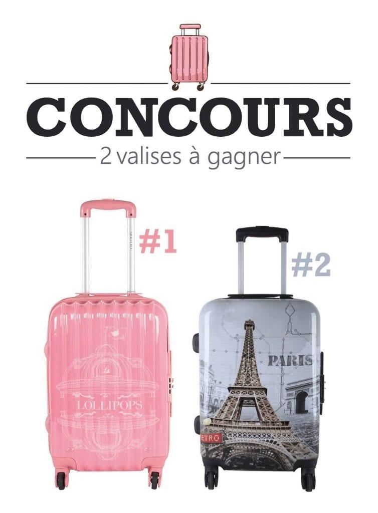 Une valise de marque Lollipops ou Oh La La Paris