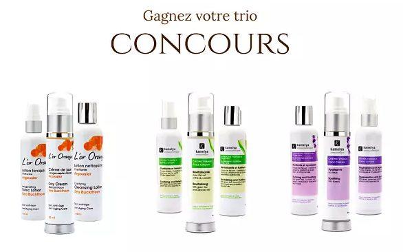 Un trio de produits de soins de la peau