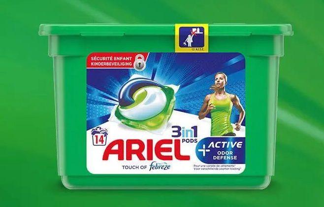 100 paquets de lessive Ariel Pods