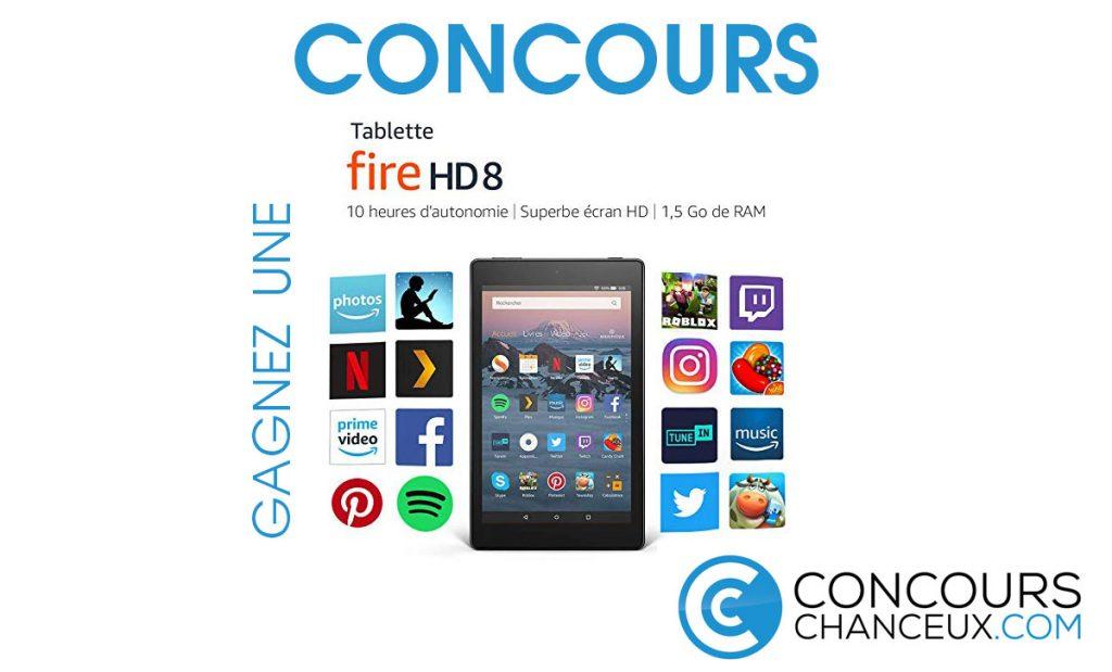 Concours - Gagnez une tablette Fire HD 8