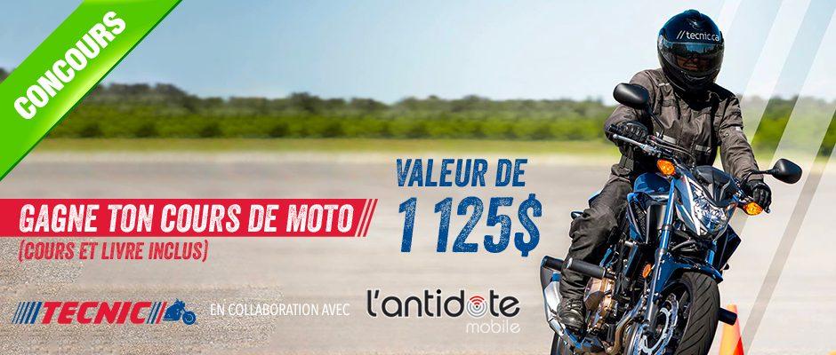Concours Québec - Cours de moto valeur de 1125$
